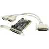 Контроллер ST-Lab CP-100  (PCI) COM+LPT (2 внеш. COM +1 LPT), купить за 1 500руб.