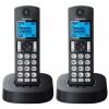 Радиотелефон Panasonic KX-TGC322RU1, чёрный, купить за 3 800руб.