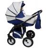 коляска Alis Mateo F 3 в 1, Ma 03, тёмно-синий + молочный