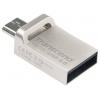 Transcend JetFlash 880S USB3.0/USB micro-B OTG 16Gb (RTL), серебристая, купить за 1 155руб.