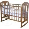 Детская кроватка Красная Звезда С 703 ЗН  Вилона накладка Жираф, темно-коричневая, купить за 9 240руб.