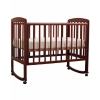 Детская кроватка Кубаньлесстрой Ромашка АБ 16.0, темный орех, купить за 9 200руб.
