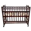 Детская кроватка Briciola 1 (качалка), темная, купить за 4 499руб.