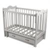 Детскую кроватку Счастливый малыш Дюймовочка (ящик) белая со стразами, купить за 7380руб.