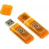 Usb-флешка SmartBuy Glossy 8GB, оранжевая, купить за 490руб.