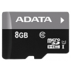 карта памяти ADATA Premier microSDHC Memory Card 8Gb UHS-I U1 + microSD-->SD Adapter
