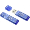 Usb-флешка SmartBuy Glossy USB2.0 4Gb (RTL), синяя, купить за 655руб.