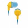 Наушники BBK EP-1420S, желто-голубые, купить за 340руб.