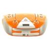 Магнитола BBK BX325U, оранжевая/серебро, купить за 2 875руб.
