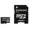 MicroSDHC 4Gb class10 Transcend  +SD �������, ������ �� 660���.