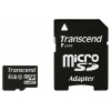 MicroSDHC 4Gb class10 Transcend  +SD адаптер, купить за 425руб.