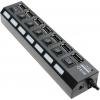 USB концентратор 5bites HB27-203PBK, блок питания, черный, купить за 920руб.