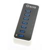 USB концентратор 5bites HB37-305PWH, блок питания 3А, черно-белый, купить за 2 090руб.