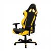 Игровое компьютерное кресло DXRacer Racing OH/RE0/NY, черное / жёлтое, купить за 26 990руб.