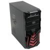 Корпус ATX 3Cott 3C-ATX110GR Gladiator 500W, черный/красный, купить за 2 400руб.