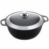 Кастрюля Kukmara ж40а жаровня, черная с серебристым, купить за 1 800руб.