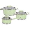 Набор посуды TalleR (нержавейка) TR-7170 зеленый, купить за 7 915руб.