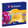 Оптический диск Verbatim DVD+RW 4.7 Gb, 4x, Slim Case, Color (5шт), купить за 705 руб.