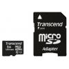 Transcend microSDHC Memory Card 8Gb Class10 + microSD-->SD Adapter, купить за 820руб.
