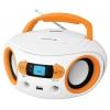 Магнитола BBK BS15BT, бело-оранжевая, купить за 2 795руб.
