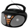 Магнитола BBK BX180U, черно-оранжевая, купить за 2 250руб.