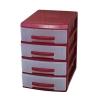 органайзер Росcпласт (мини) 4 ящика красный/перламутр, купить за 340руб.