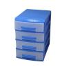 органайзер Росcпласт (мини), 4 ящика, голубой/прозрачный, купить за 475руб.