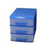 органайзер Роccпласт (мини), 3 ящика, голубой/прозрачный, купить за 230руб.