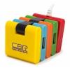 USB концентратор CBR CH-155, 4 порта, USB 2.0, купить за 505руб.