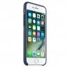 Чехол iphone Apple MMY32ZM/A (для Apple iPhone 7) кожа, темно-синий, купить за 3295руб.