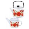 Набор чайников Лысьва СТЭМА Алые маки С-345П2/4Рч, купить за 2 075руб.