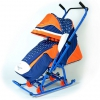 Санки-коляска RT Скользяшки Мозаика, сине-оранжево-белые, купить за 4 000руб.