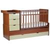Детскую кроватку СКВ-Компани Жираф 52003х фотопечать, орех + бежевая, купить за 8570руб.