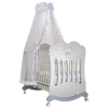 Детская кроватка Feretti Etoile (качалка), серебристая, купить за 33 990руб.