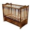 Детскую кроватку Счастливый малыш Дюймовочка (с маятником и ящиком) Орех с оттенением, купить за 6360руб.
