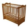 Детскую кроватку Счастливый малыш Дюймовочка (с маятником и ящиком) Светлый орех, купить за 6130руб.