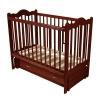 Детскую кроватку Счастливый малыш Дюймовочка (продольный маятник) темный орех, купить за 6130руб.