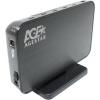 Корпус для внешнего жесткого диска AgeStar 3UB3A8-6G (внешний, SATA - USB3.0), чёрный, купить за 1 465руб.