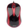 Мышь A4Tech N-360-2 USB, красно-черная, купить за 455руб.