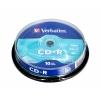 Оптический диск CD-R Verbatim  700МБ 52x Cake Box (10шт), купить за 410руб.