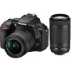 Цифровой фотоаппарат Nikon D5600 Kit (8-55 VR AF-P 70-300 VR AF-P), черный, купить за 71 805руб.