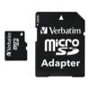 MicroSDHC 16Gb class10 Verbatim (с SD адаптером), купить за 545руб.