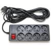 Сетевой фильтр 5 Bites (8 розеток) черный, купить за 830руб.