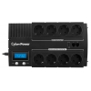 Источник бесперебойного питания CyberPower BR1000ELCD 1000 ВА / 600 Вт, черный, купить за 6 900руб.