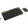 Комплект Logitech Wireless Combo MK240 Nano, черно-салатовая, купить за 1620руб.