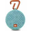 Портативная акустика JBL Clip 2 Mosaic, бирюзовая с голубым, купить за 3 050руб.