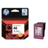 Картридж HP 46, струйный, цветной, купить за 790руб.