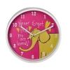 Часы интерьерные Hama Elephant H-123171, розовые, купить за 710руб.