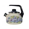 Чайник для плиты Стальэмаль 4с210я Фиалка, слоновая кость, купить за 1 255руб.
