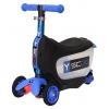 Самокат Y-Scoo Mini Jump&Go 3 в 1, темно-синий, купить за 3555руб.